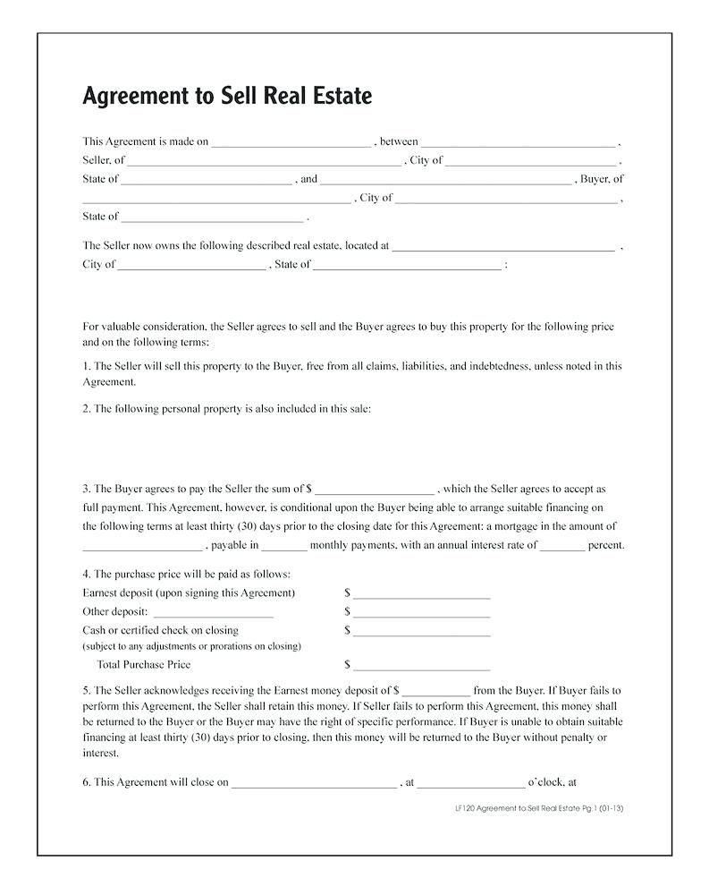 Arkansas Real Estate Contract Template