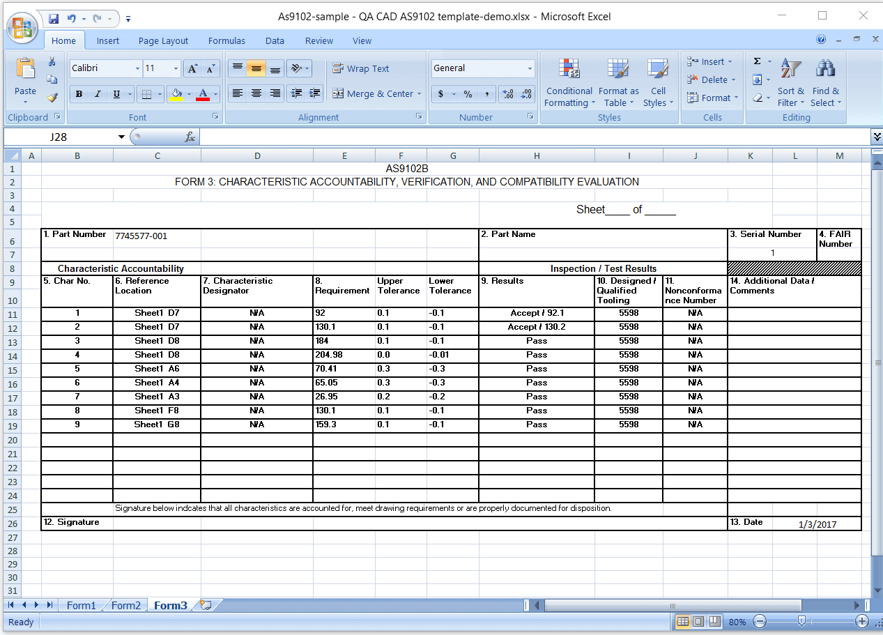 As9102 Form 3 Excel