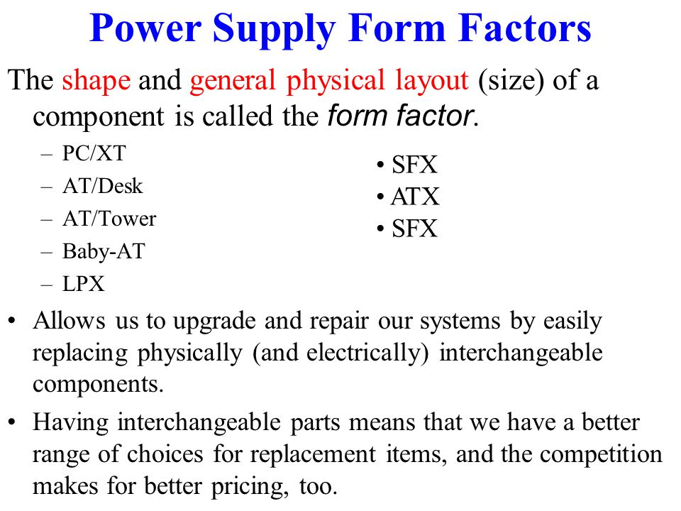Atx Power Supply Form Factor Specifications