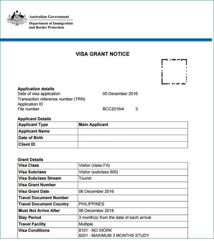 Australian Embassy Manila Visa Application Form