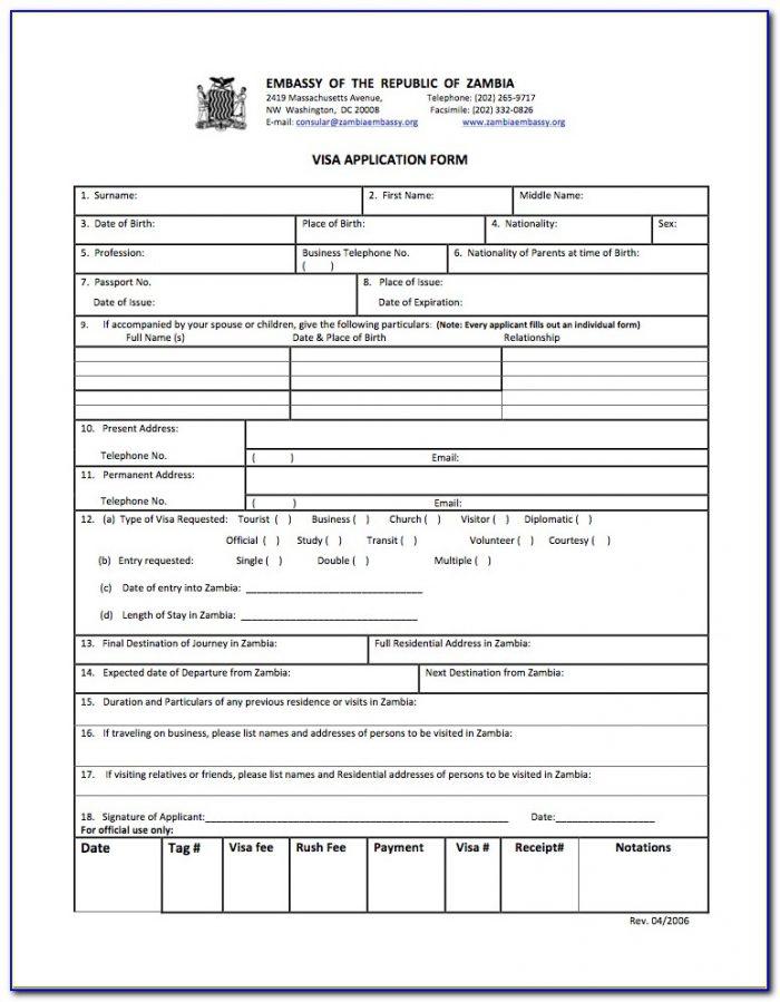 Australian Tourist Visa Application Form 1419