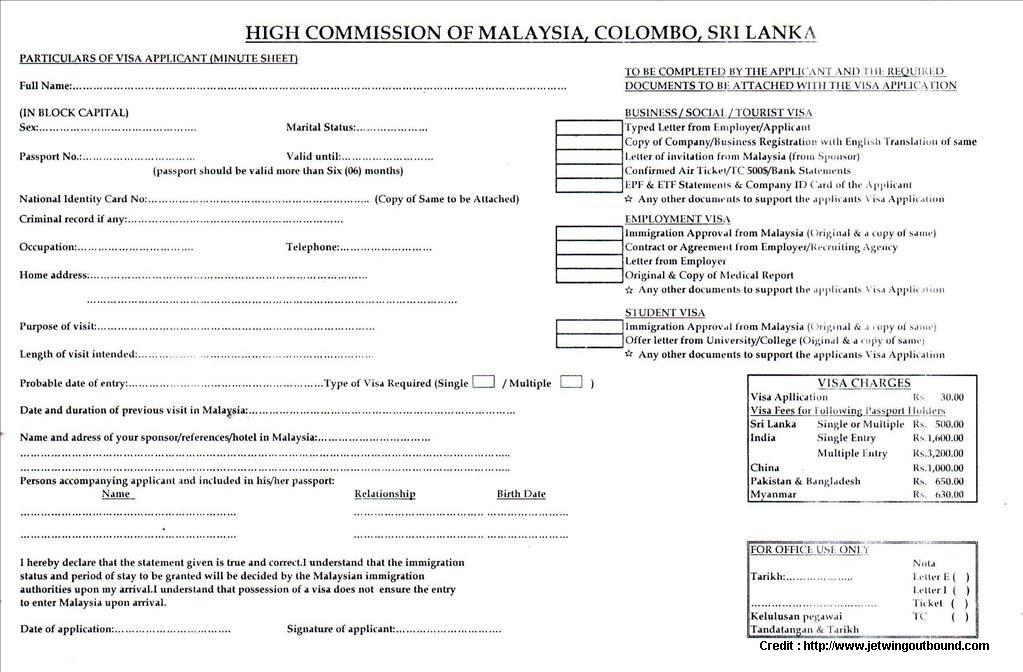 Australian Tourist Visa Application Form Sri Lanka