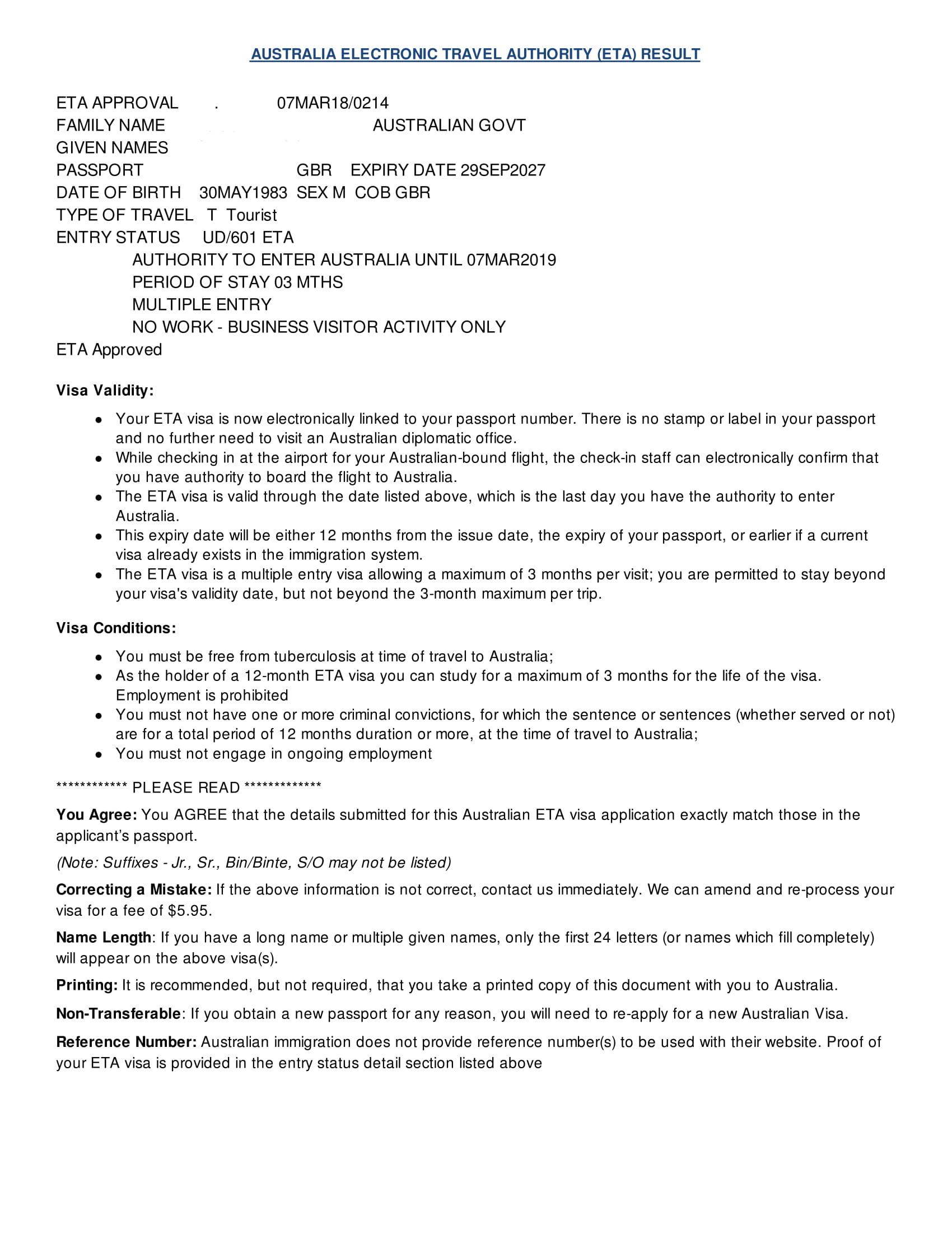 Australian Visitors Visa Application Form Fiji