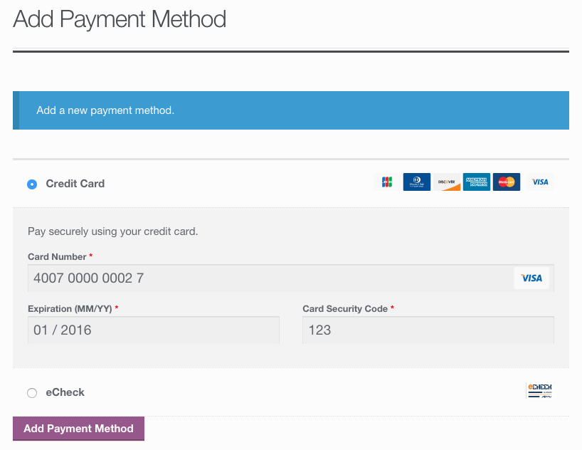 Authorize.net Payment Form Wordpress