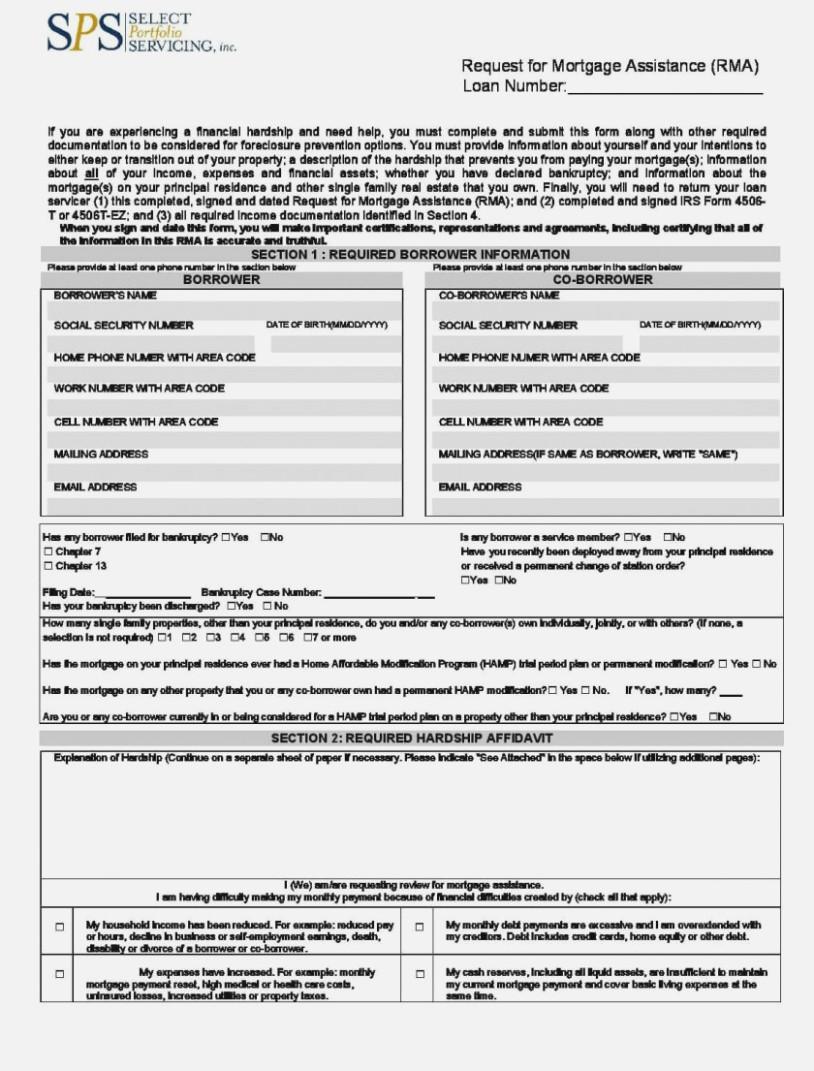 Bank Of America Loan Modification Application Form