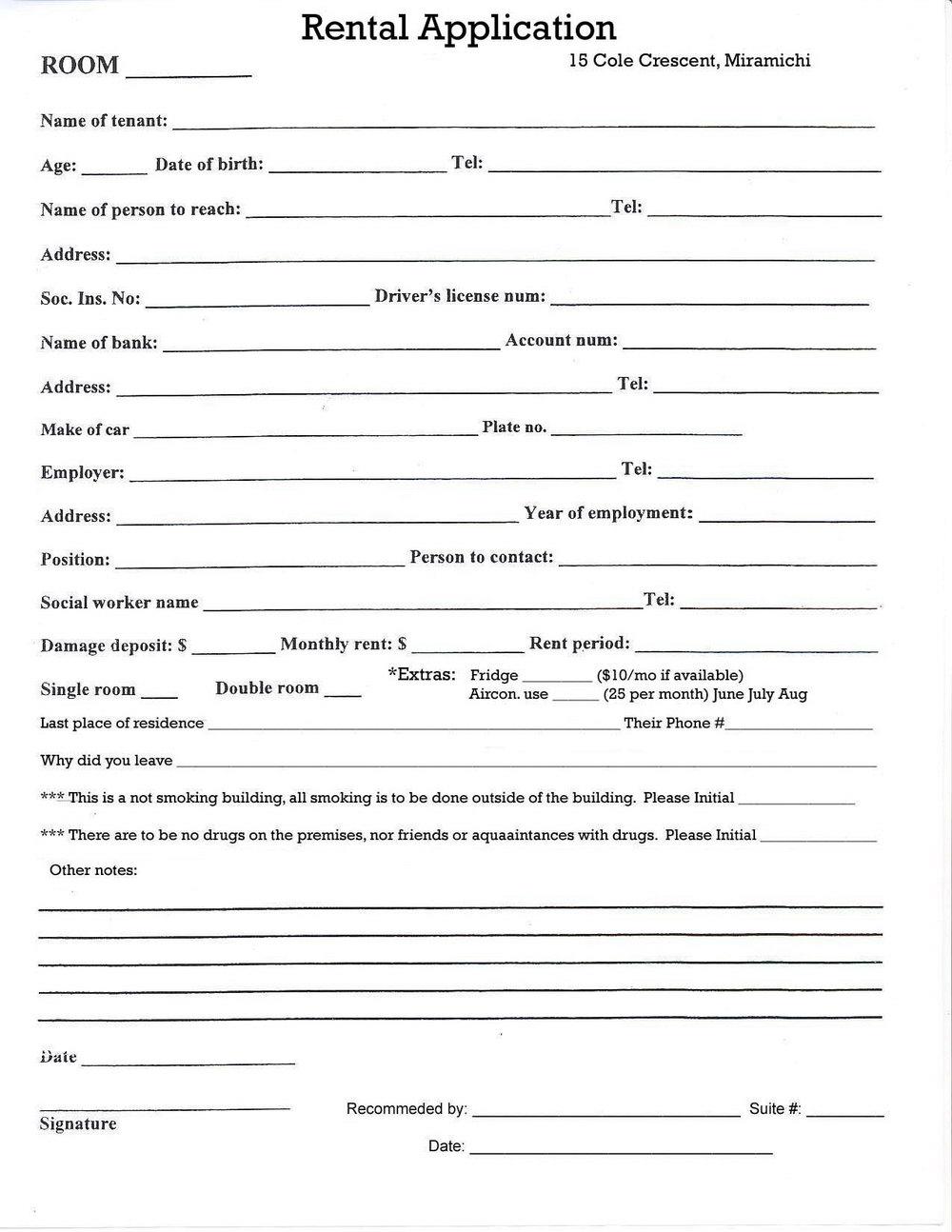 Oregon Rental Application Form Free