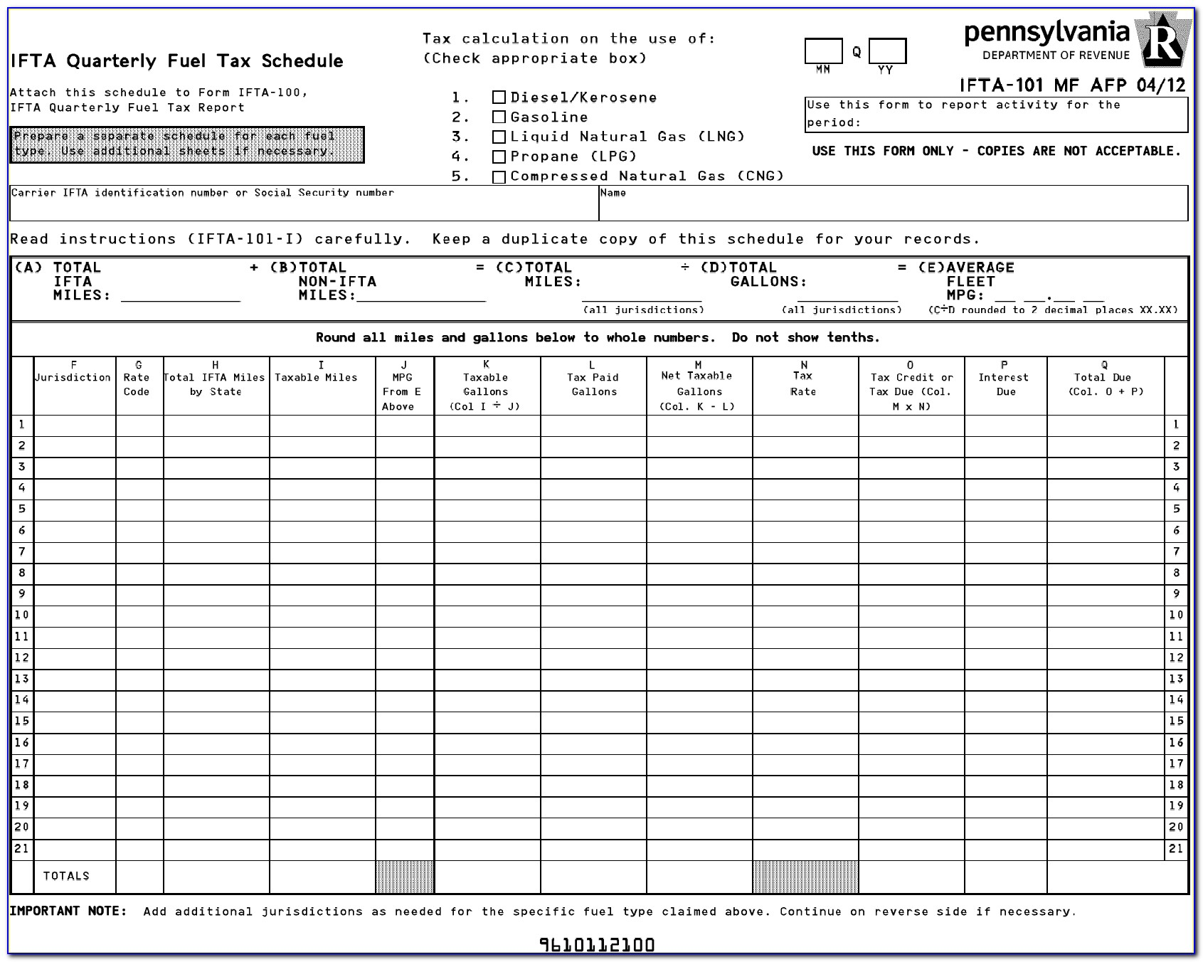 Bc Ifta Fuel Tax Form