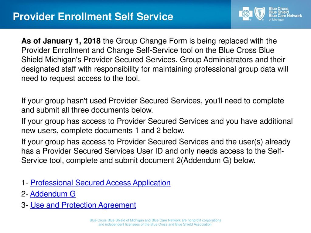 Bcbs Enrollment Application Change Form