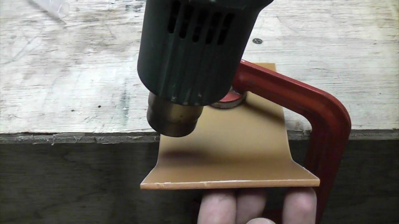 Bending Acrylic Sheets With Heat Gun