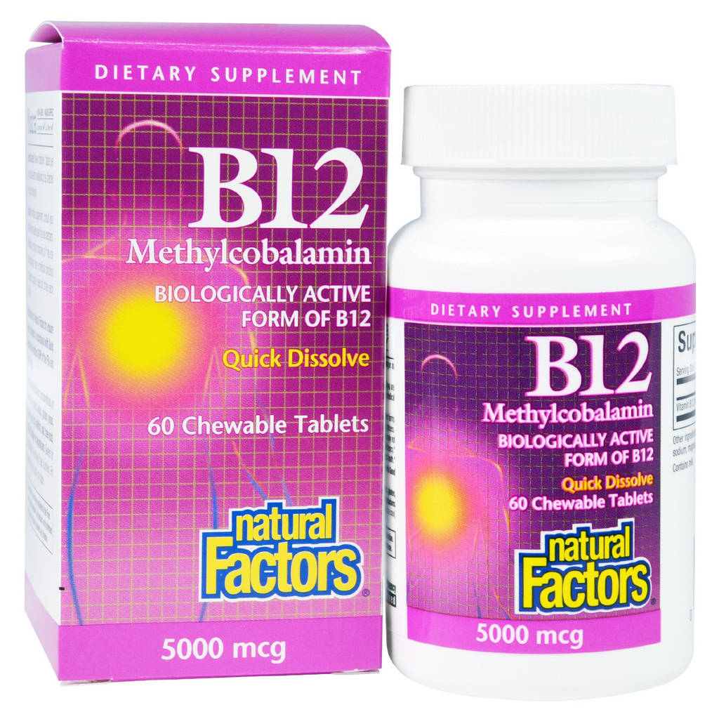 Which Form Of Vitamin B12 Is Best New Natural Factors B12 Methylcobalamin 5000 Mcg 60 Chewable Tablets