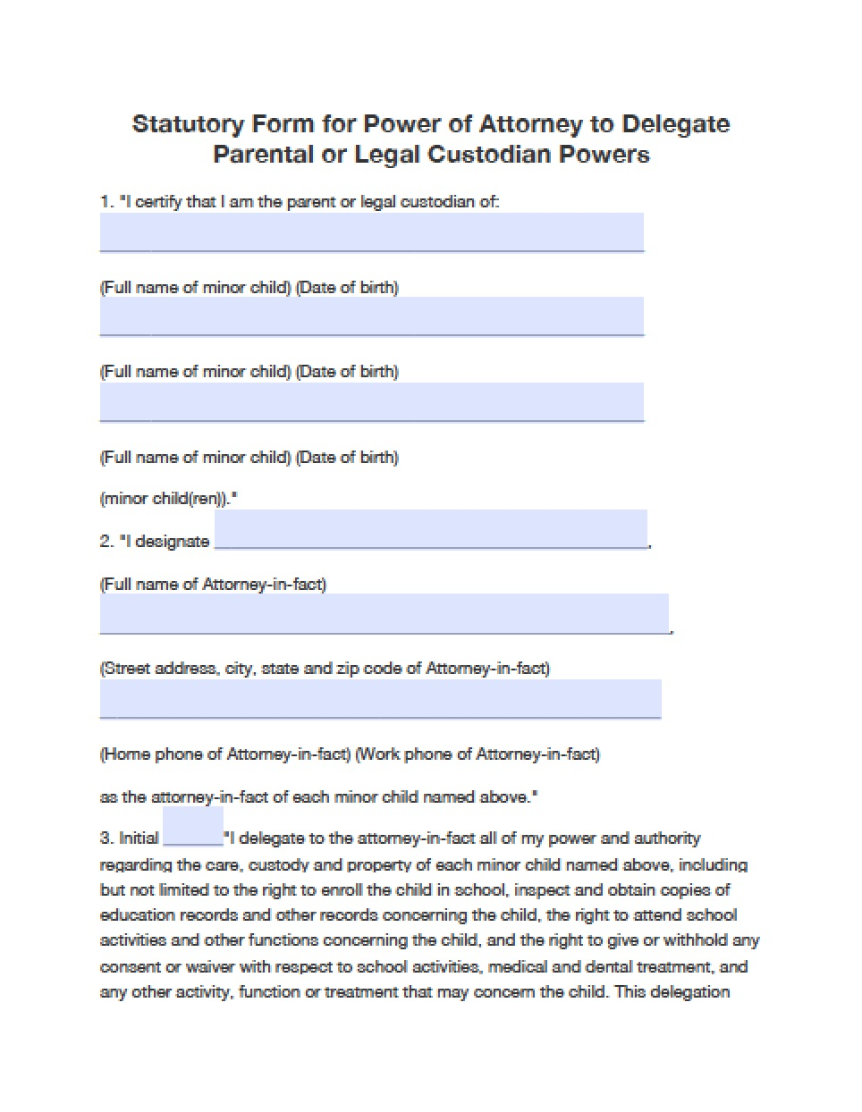 Blank Durable Power Of Attorney Form Oklahoma