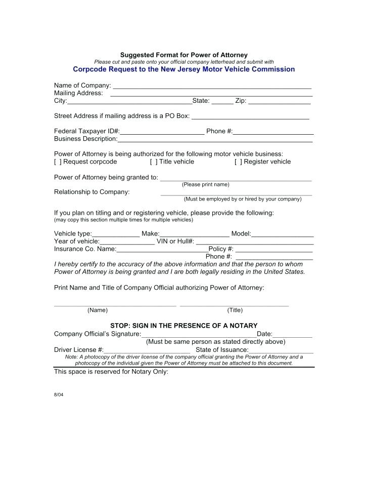 Blank Power Of Attorney Form California