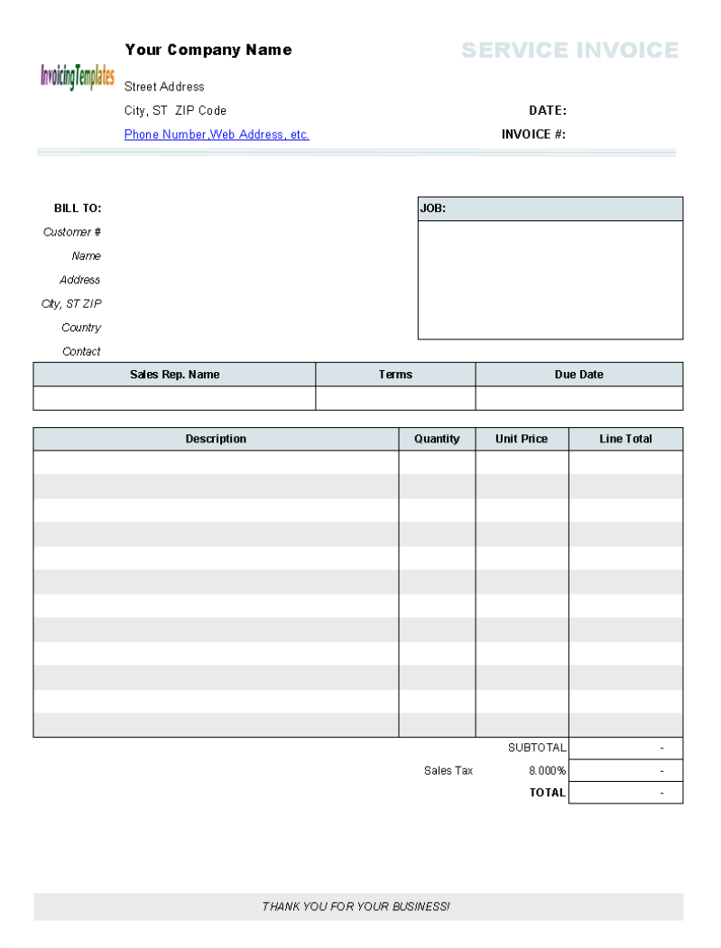 Blank Printable Invoice Forms