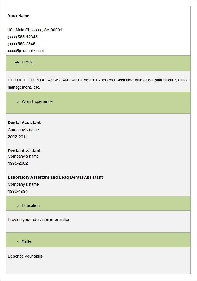 Blank Resume Format Doc