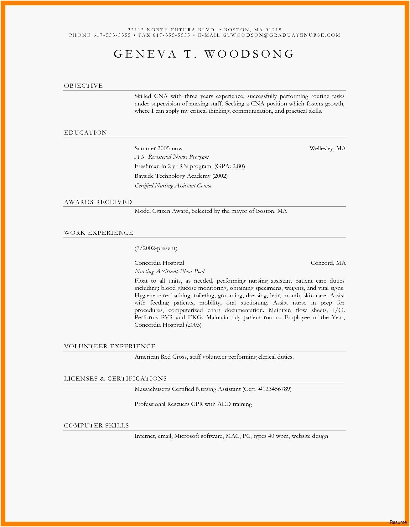 Blank Resume Formats
