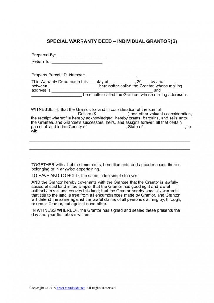Blank Warranty Deed Form Colorado