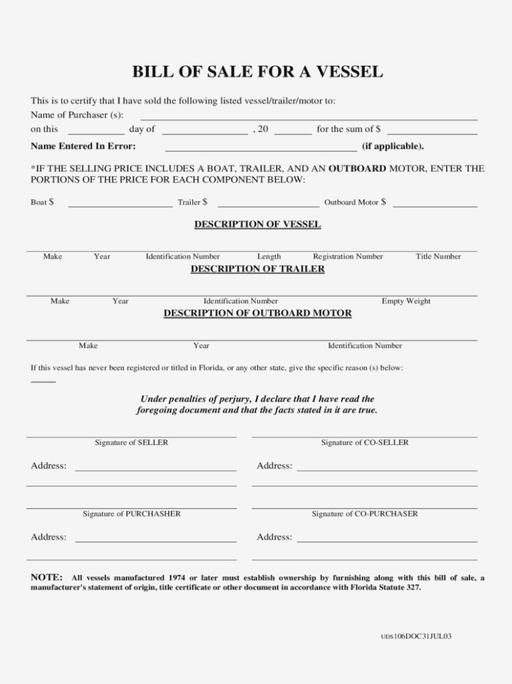 Boat Registration Form Nc