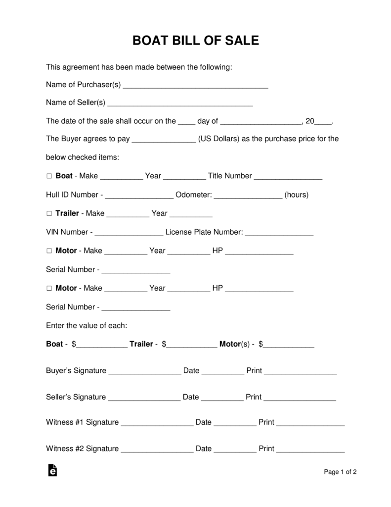 Boat Registration Form Tennessee