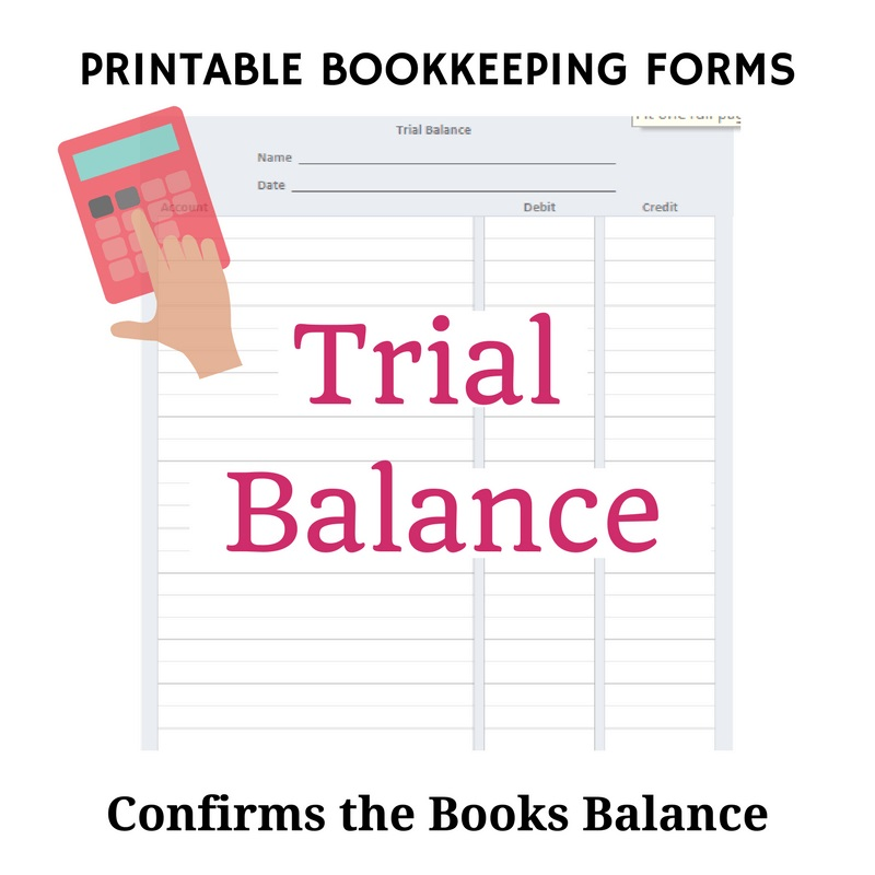 Bookkeeping Forms Pdf