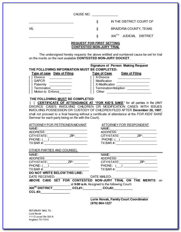 Brevard County Fl Divorce Forms