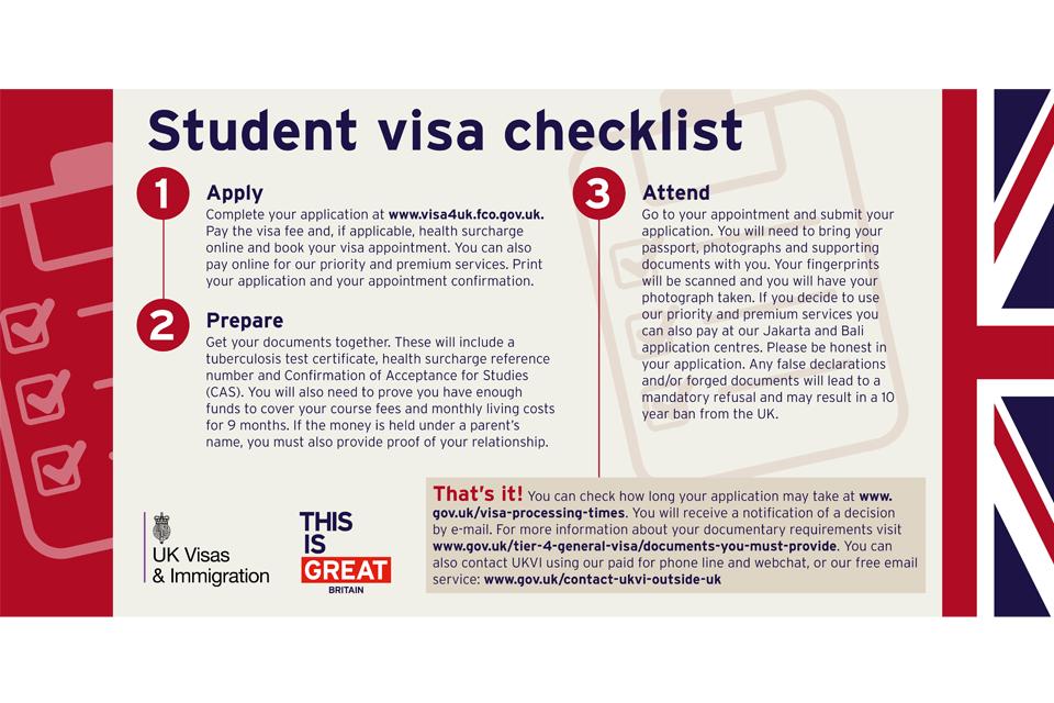 British Embassy Student Visa Application Form