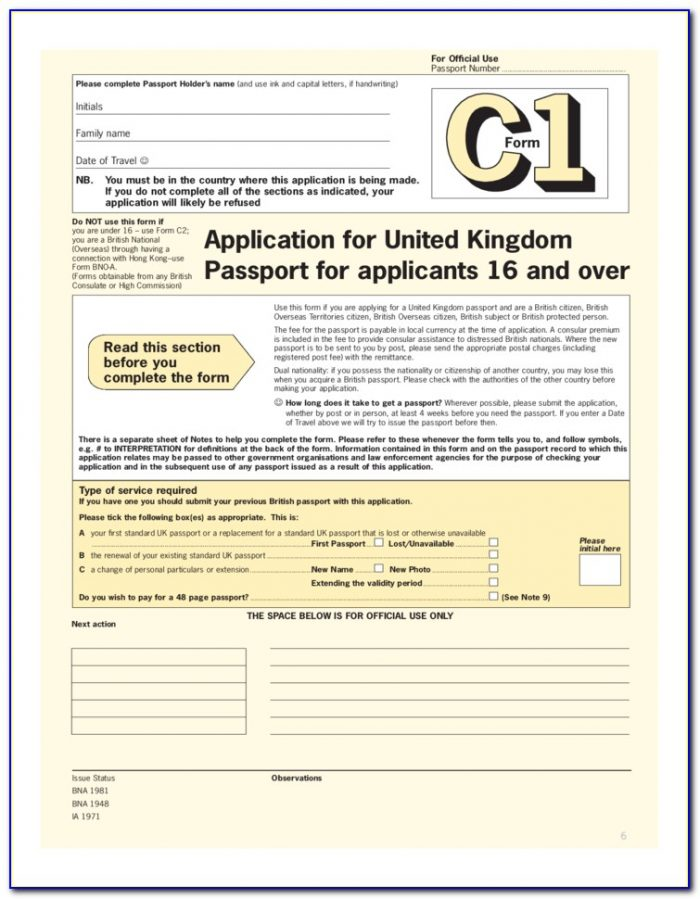 British Passport Renewal Forms Download