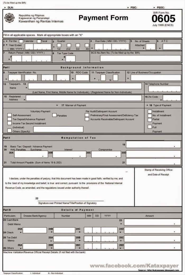 Bureau Of Internal Revenue Form 2307