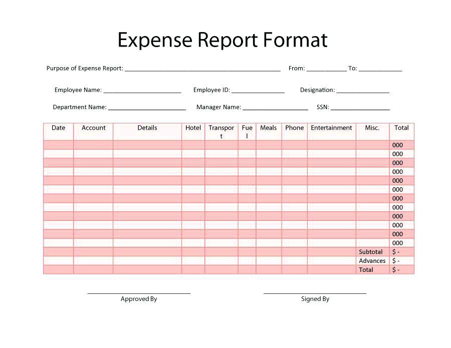 Business Expense Claim Form Templates