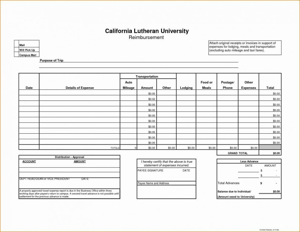 Business Expenses Form Template Uk