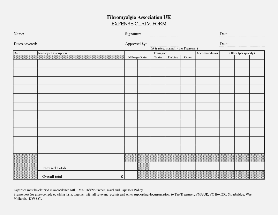 Business Expenses Form Template