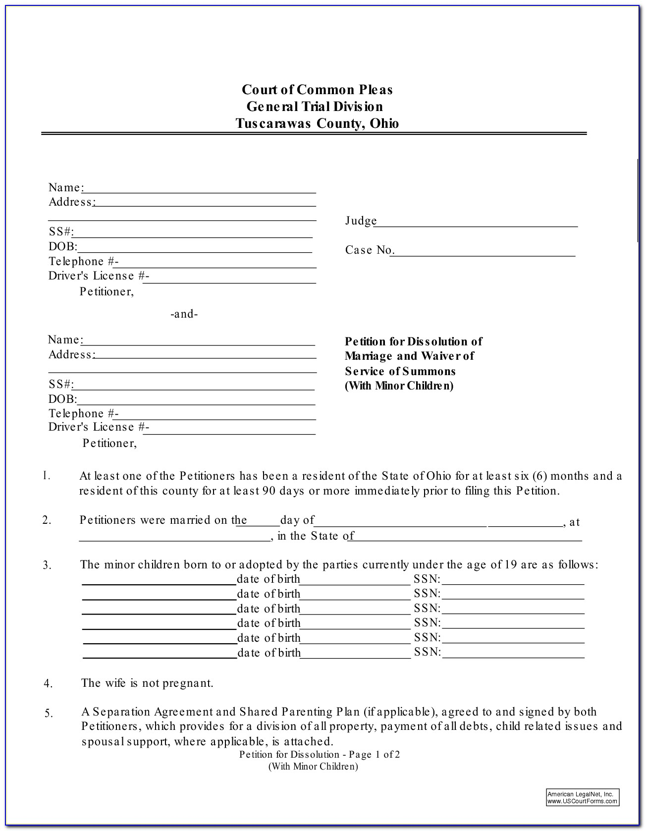 Butler County Ohio Child Custody Forms