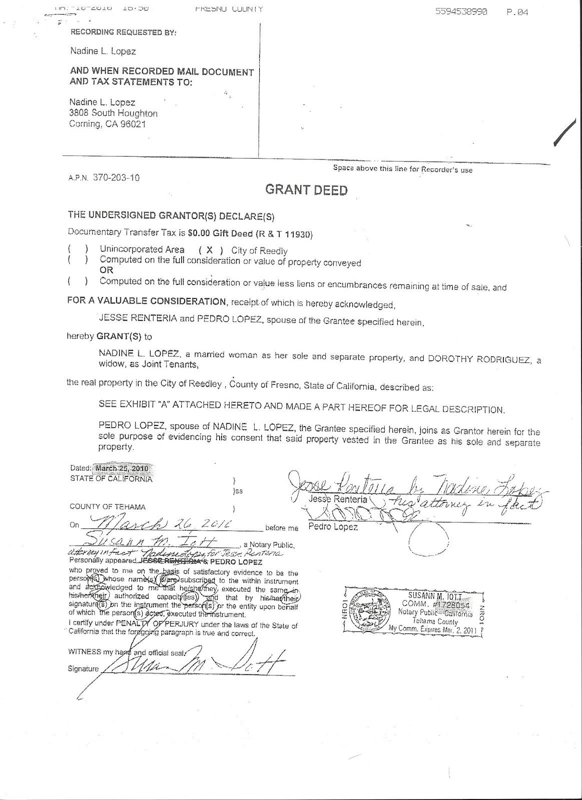 Ca Trust Transfer Deed Form
