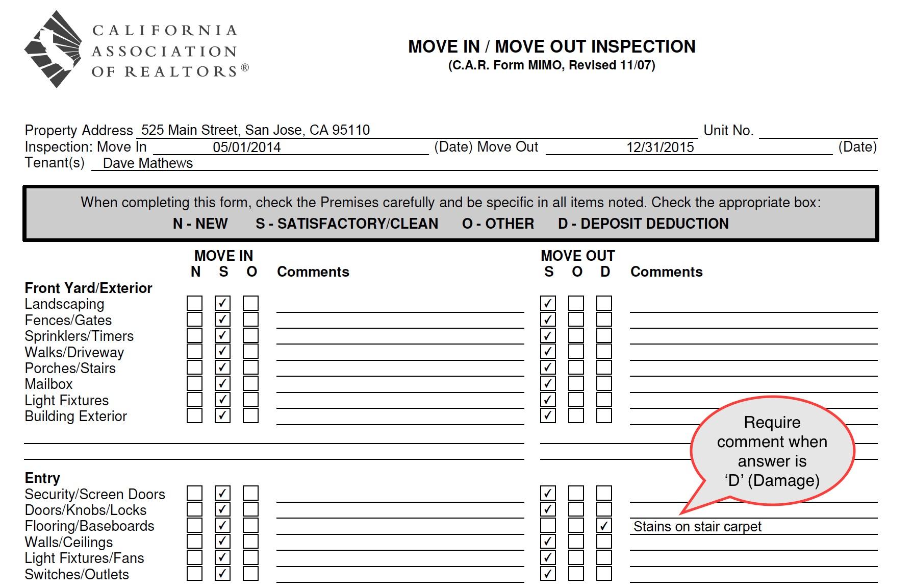 California Fire Sprinkler Inspection Forms