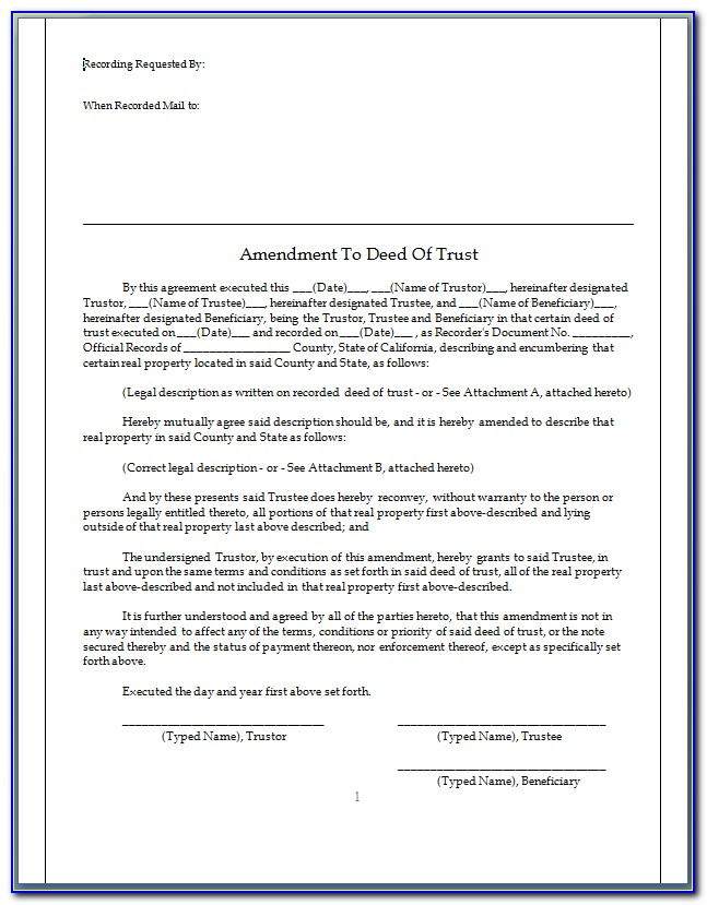 California Note And Deed Of Trust Forms