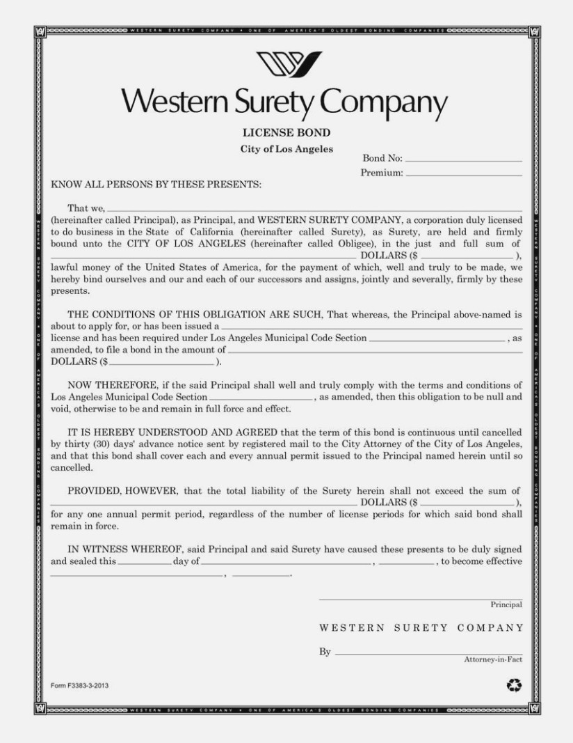 California Surety Bond Forms