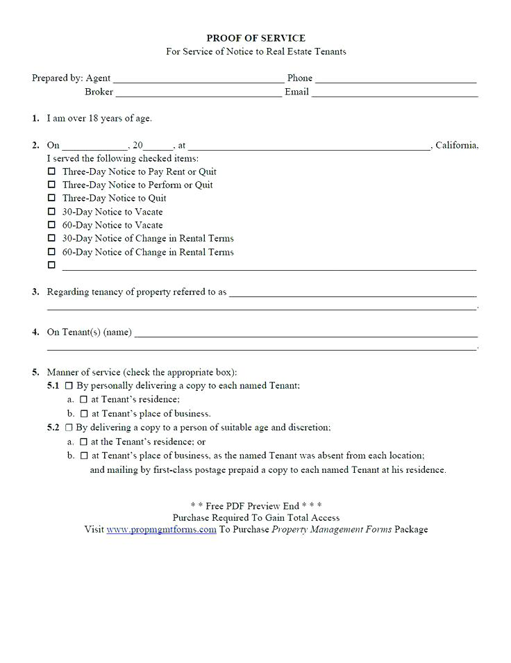 California Tenant Eviction Forms