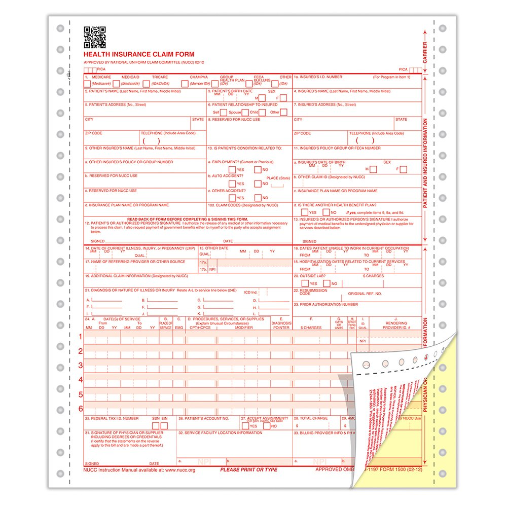 Can Cms 1500 Forms Be Handwritten