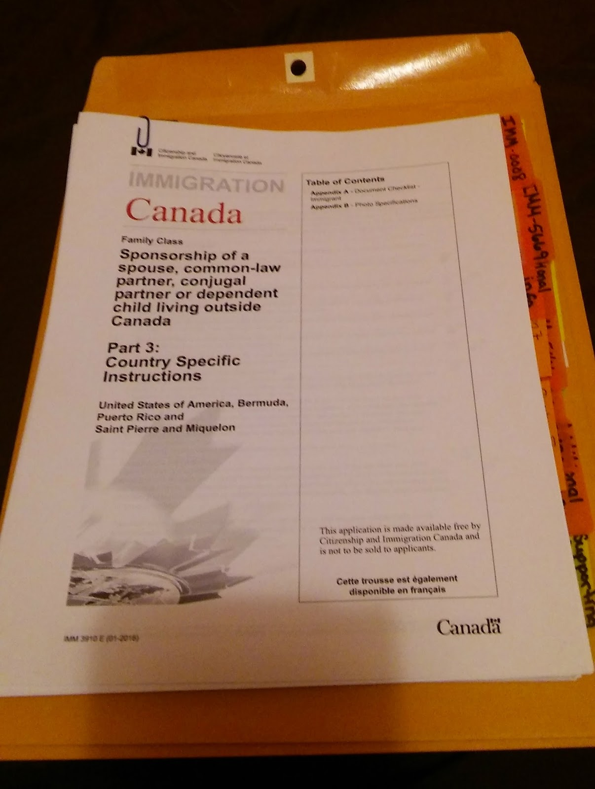 Canadian Immigration Forms For Spouse