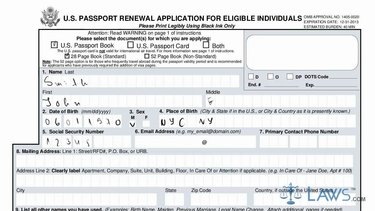 Can't Print Passport Renewal Form