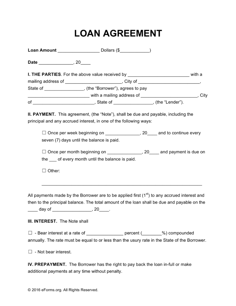 Sample Business Loan Application Form With Private Business Loan Agreement Template