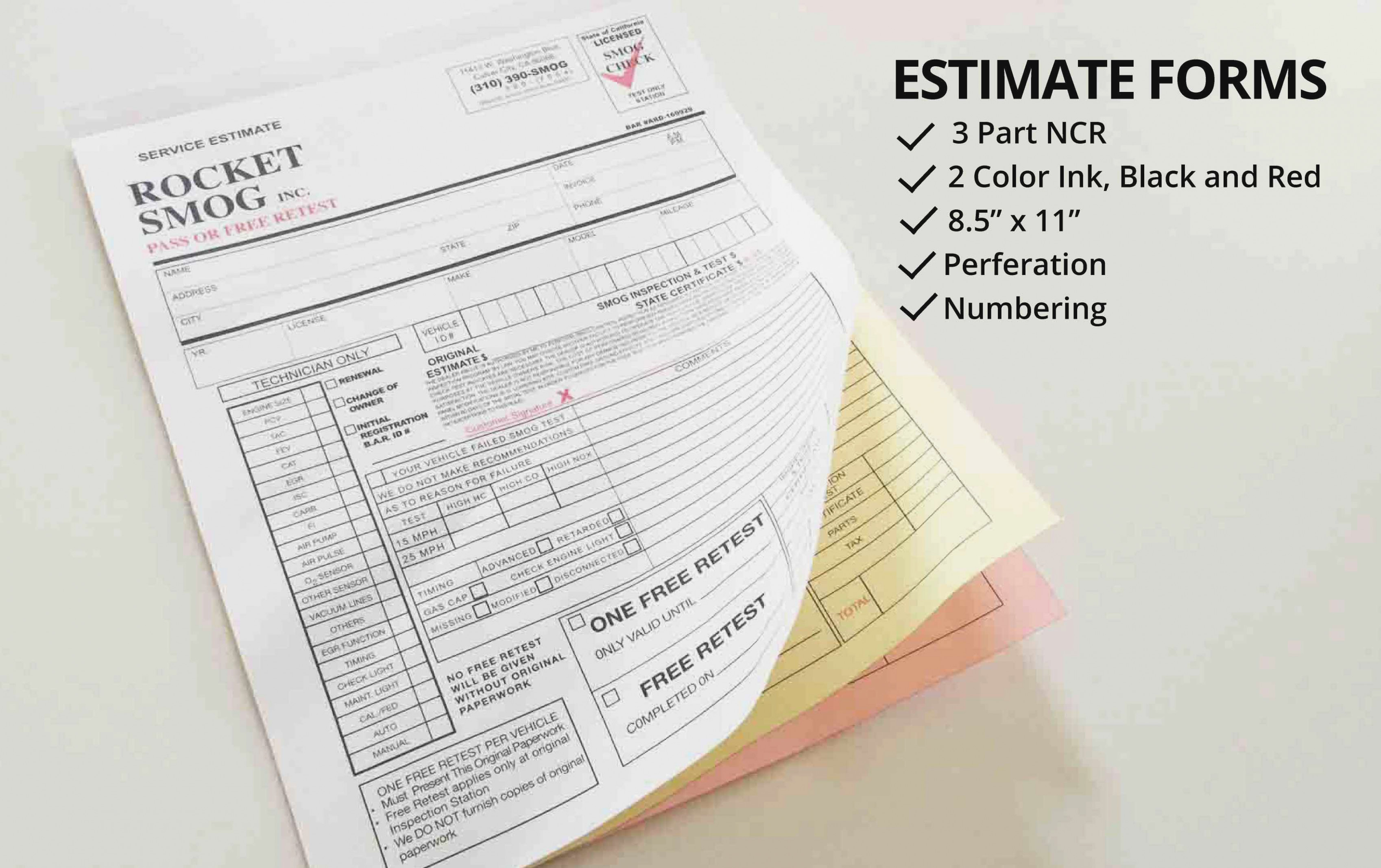 Carbonless Business Forms Printing