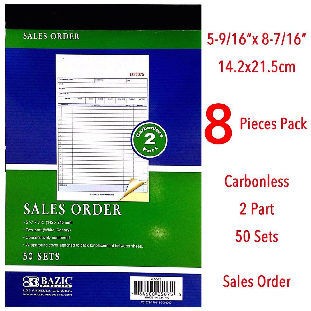 Carbonless Sales Order Forms