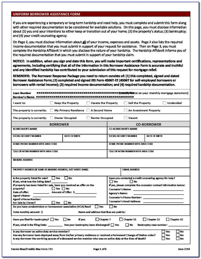 Chase Loan Modification Forms Download