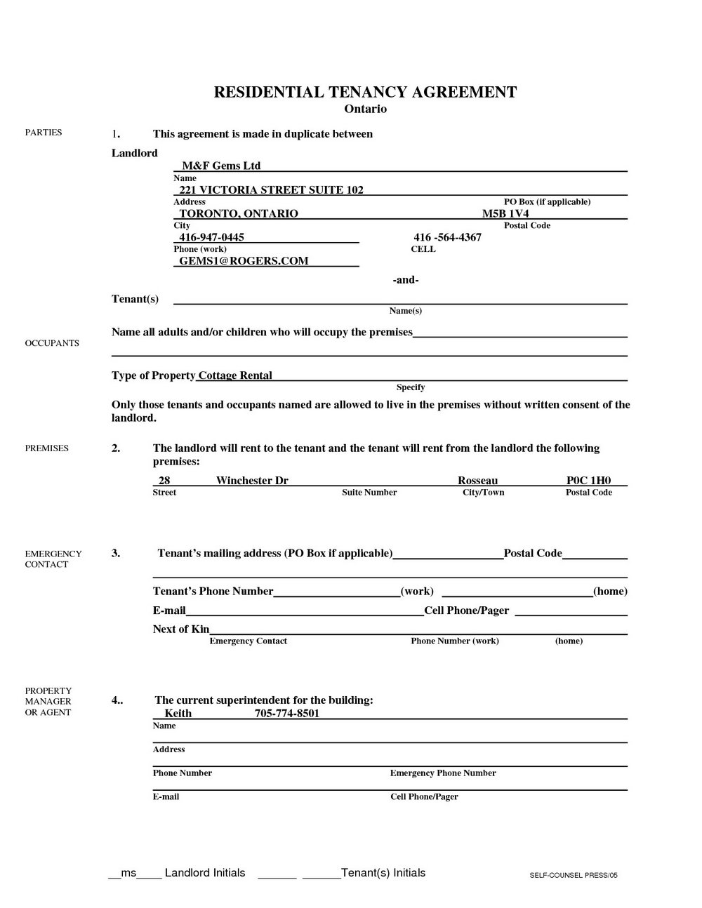 Chicago Apartment Lease Forms