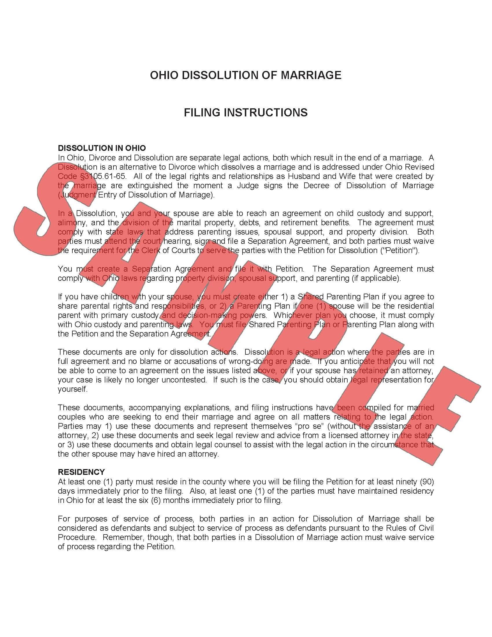 Child Custody Forms Franklin County Ohio