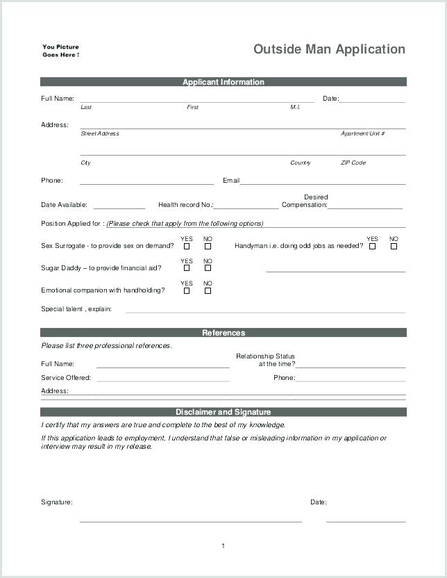 Child Day Care Application Form