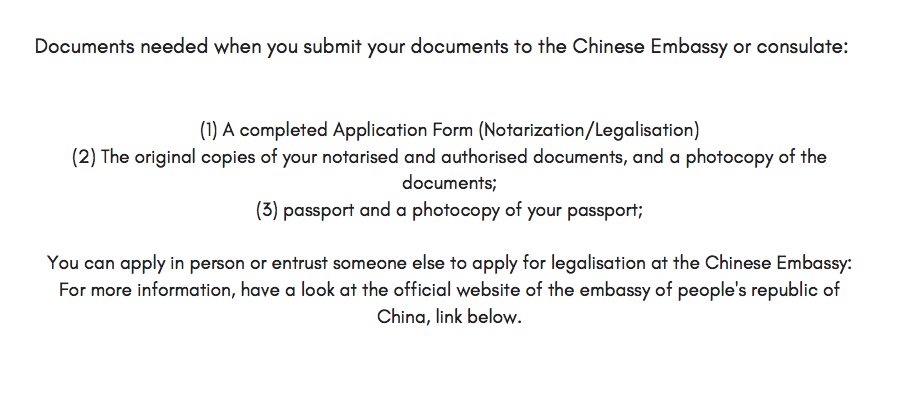 Chinese Embassy Visa Application Form Auckland