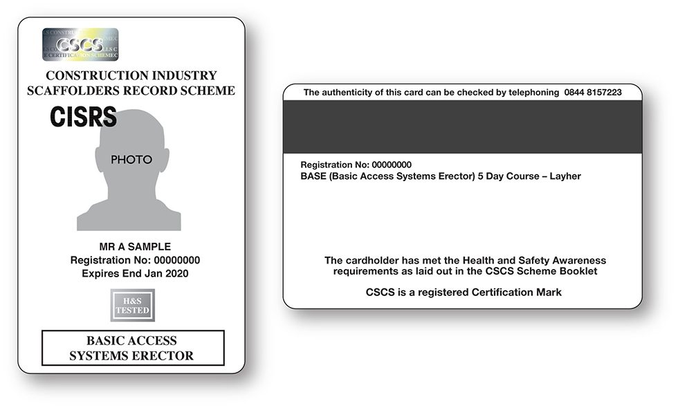 Cisrs Scaffold Inspection Application Form