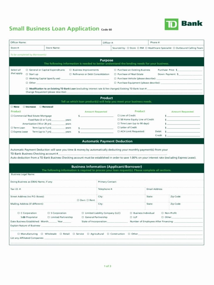Citibank Business Loan Application Form