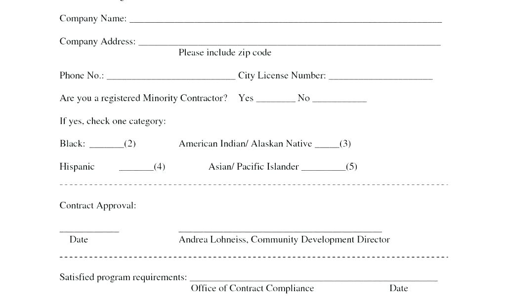 Cleaning Contractors Proposal Form